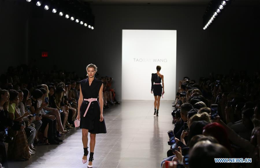 Creations of Taoray Wang presented at New York Fashion Week