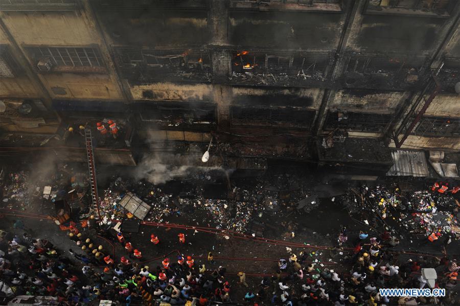 Fire at Bagri Market extinguished in Kolkata, India