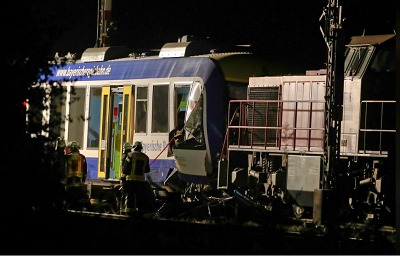 Trains collide in southern Germany, at least two dead: media