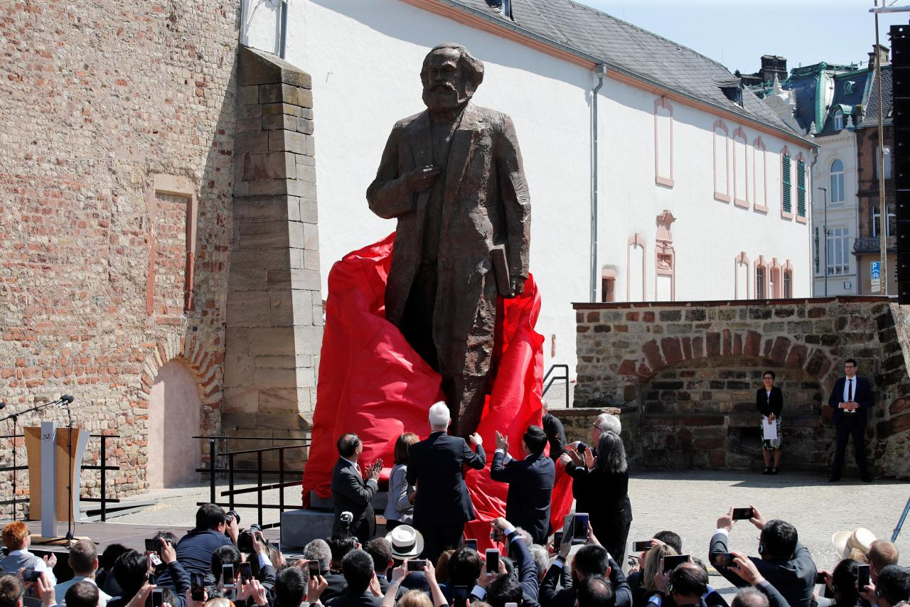 Image result for marx statue germany reuters