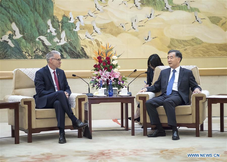 China's top political advisor meets French guest