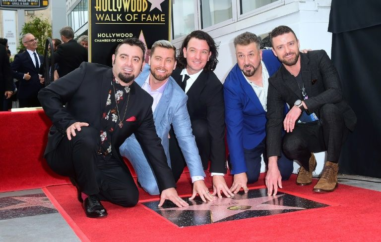 Screaming fans flood Hollywood as NSYNC gets Walk of Fame honor