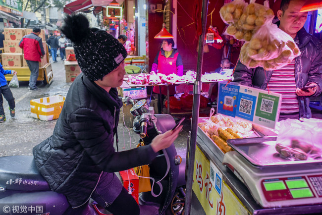 Mobile payment increasingly popular in rural China