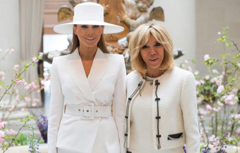 Brigitte Macron praises 'fun' Melania Trump