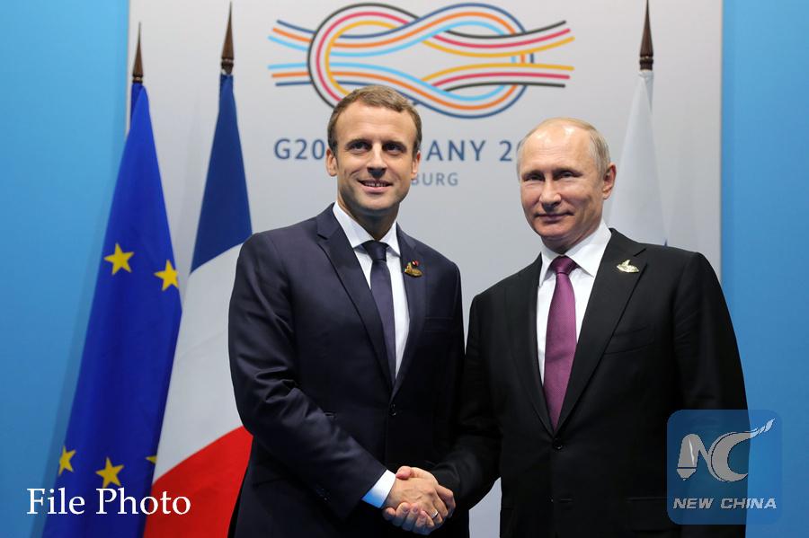 Putin, Macron agree to continue cooperation on Syria