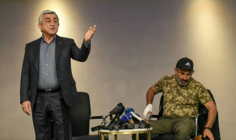 Armenian PM walks out of talks with protest leader