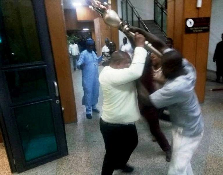 Nigeria police recover stolen Senate mace under flyover