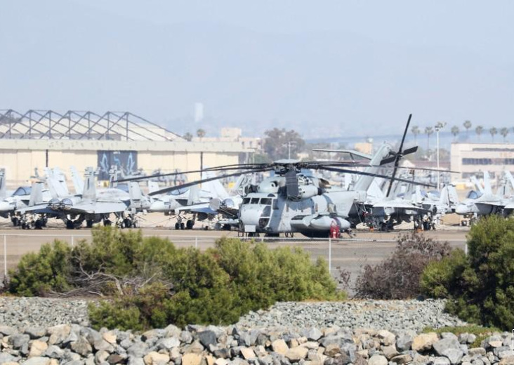 Four Marine helicopter crew presumed dead after California crash