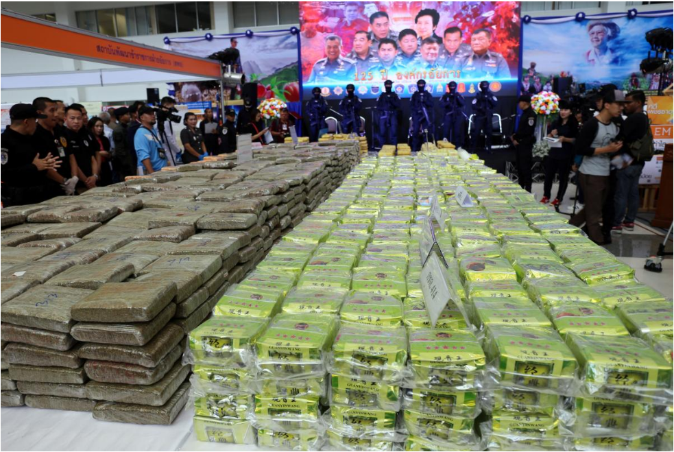 Thailand makes one of its 'largest ever' crystal methamphetamine busts
