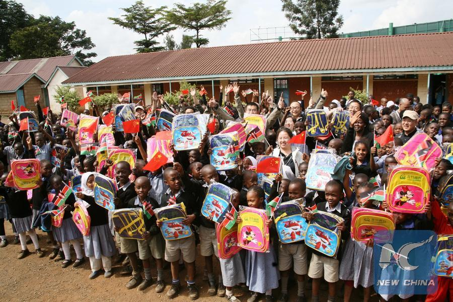 Chinese artists donate learning materials, sports kit to Kenyan school