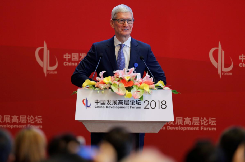Apple's Tim Cook calls for calm heads on China, US trade