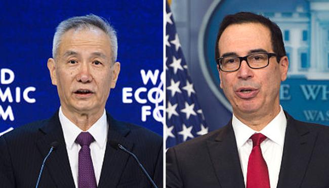 Chinese vice premier, US treasury secretary speak on trade