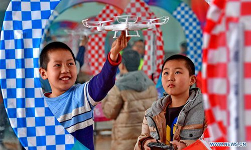 Drones introduced to schools' extracurricular activities in N China's Hebei