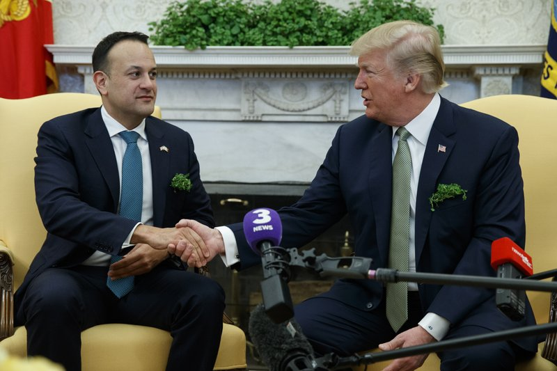 Trump touts Irish ties, but jokes about country's taxes