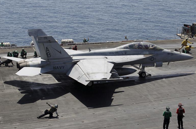 US Navy F-18 crashes in Florida, two-member crew missing after ejection