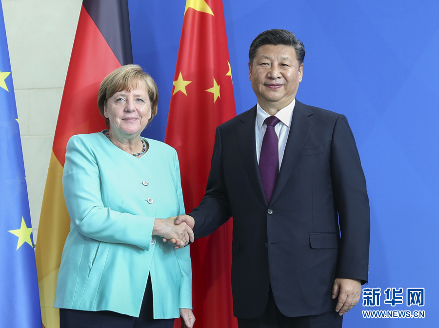 Chinese president congratulates Merkel on re-election as German chancellor