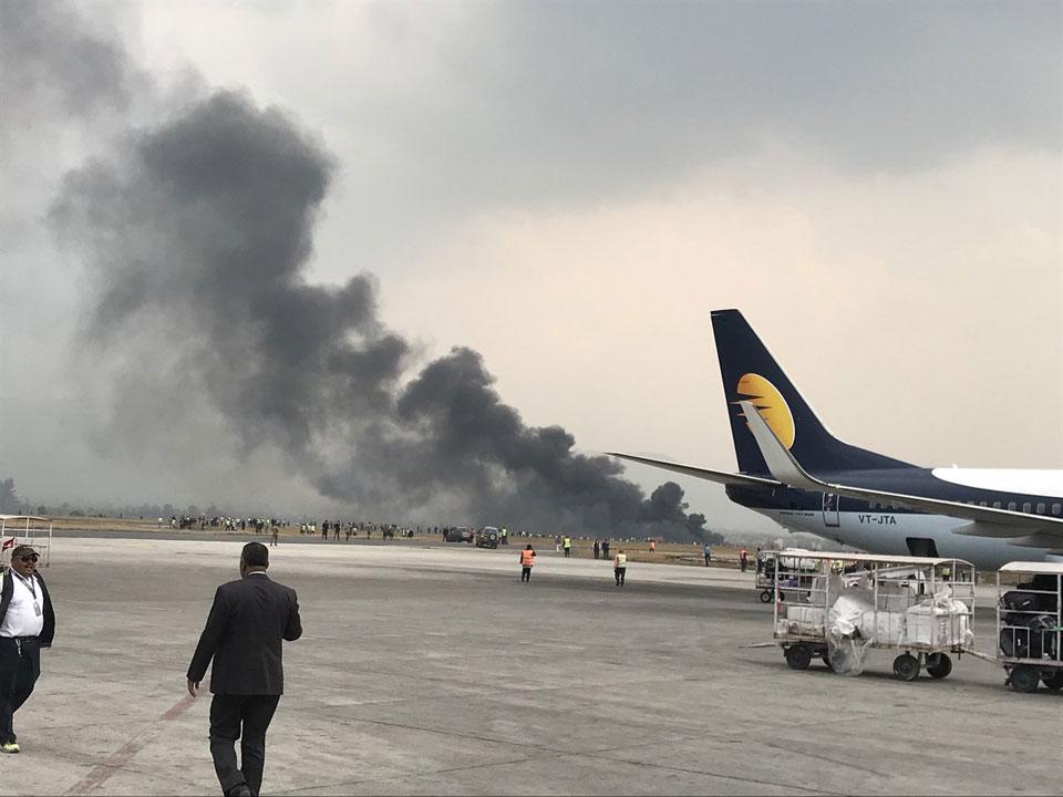 US-Bangla aircraft crash-lands at Nepal's int'l airport