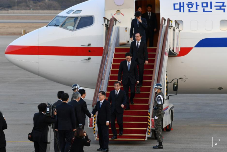 South Koreans in Washington to brief on talks with North Korea's leader