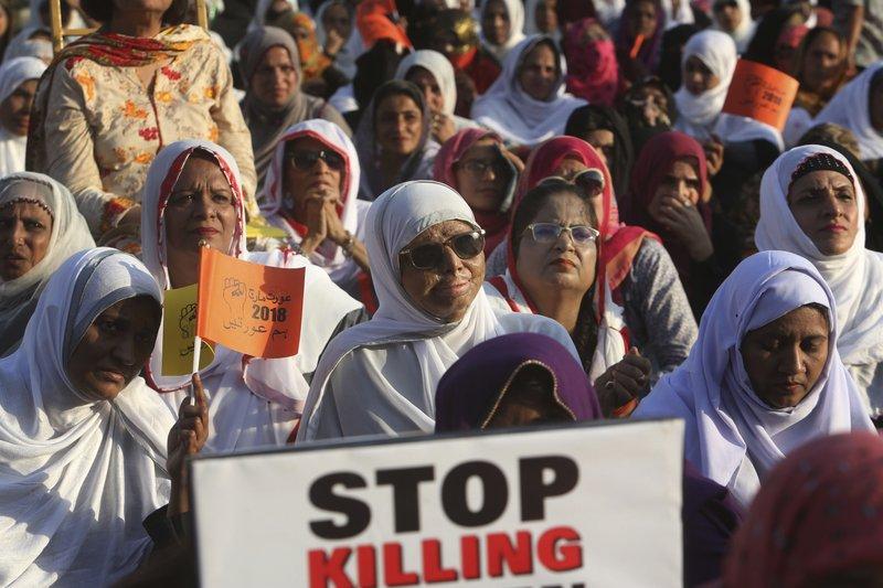 Acid attack victim braves Women's Day rally