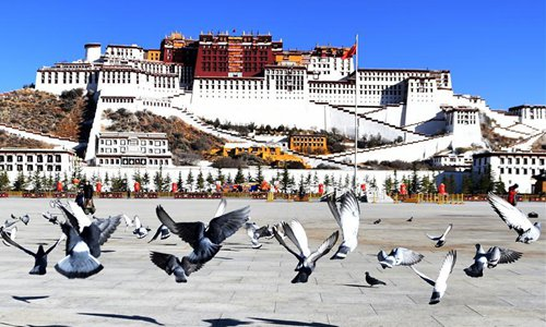 【Photos】Early spring scenery in Lhasa, SW China's Tibet