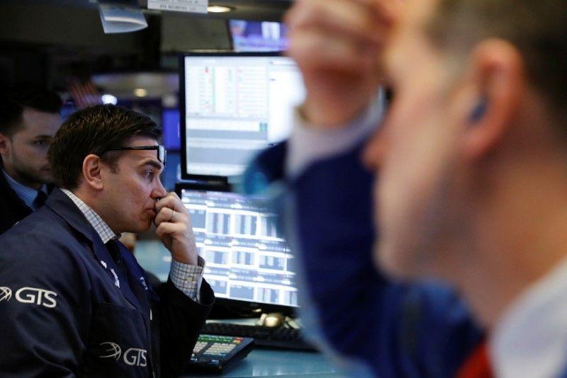 Wall Street drops over 1 percent on Trump tariff fears