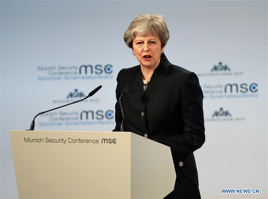 May proposes security treaty with EU after Brexit at Munich meeting