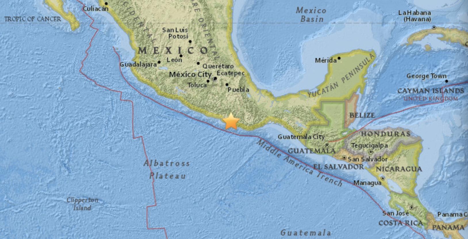 Powerful earthquake shakes southern Mexico
