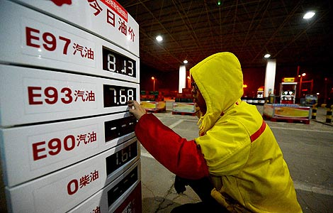 China to reduce retail oil prices