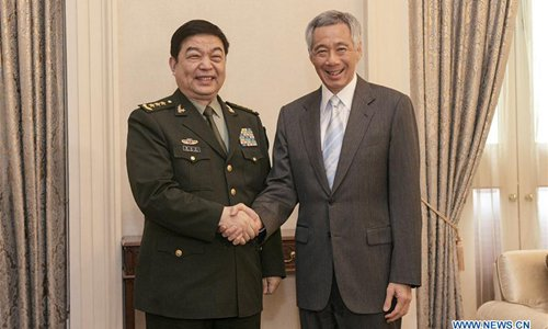 Singaporean PM meets Chinese defense minister on ties, ASEAN-China relationship