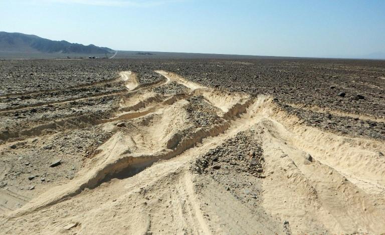 Truck damages Peru's ancient Nazca lines