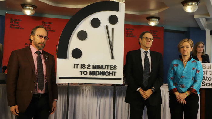 Nuclear concerns push 'Doomsday Clock' closer to midnight