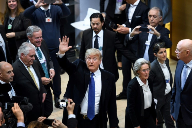 Trump touts 'America First' to sceptical Davos elite