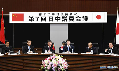 Senior legislators from China, Japan agree to push for improvement of ties