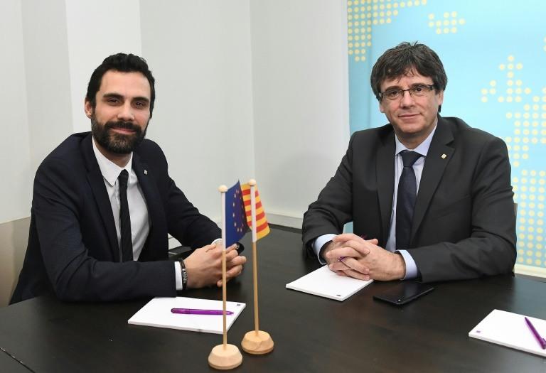Catalan parliament speaker defends Puigdemont as legitimate leader