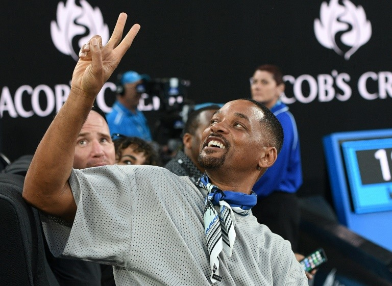 Hollywood's Will Smith hooked after Kyrgios classic