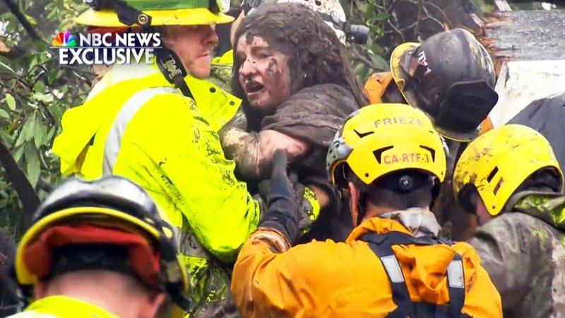 Mudslide victim's final words to partner-Don't let go'