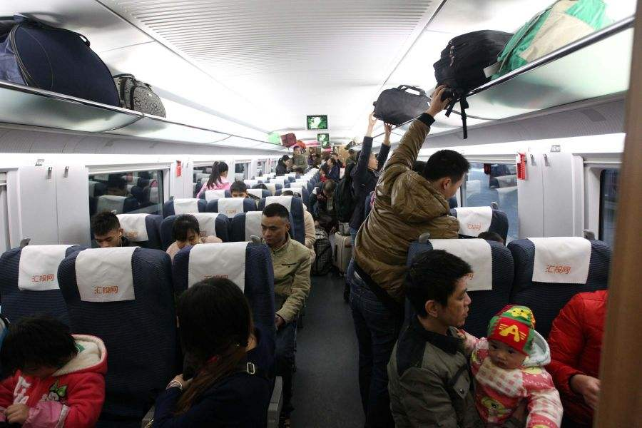 Chinese railways see heavy New Year holiday traffic