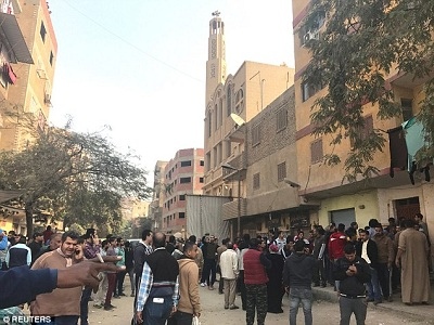 At least 10 killed in attack outside Cairo church