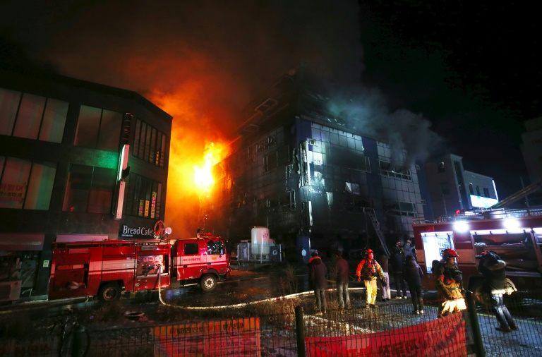 South Korea blaze evokes Grenfell Tower fire