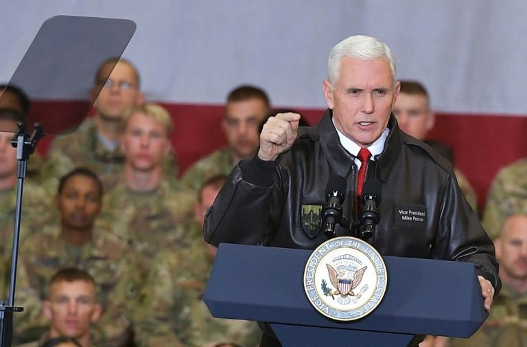 VP Pence pays surprise visit to US troops in Afghanistan