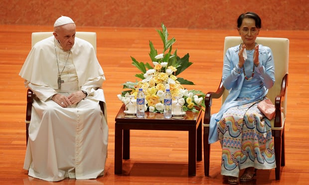 Pope calls for reconciliation in Myanmar on diplomatically fraught trip