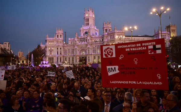 Thousands in Madrid protest violence against women