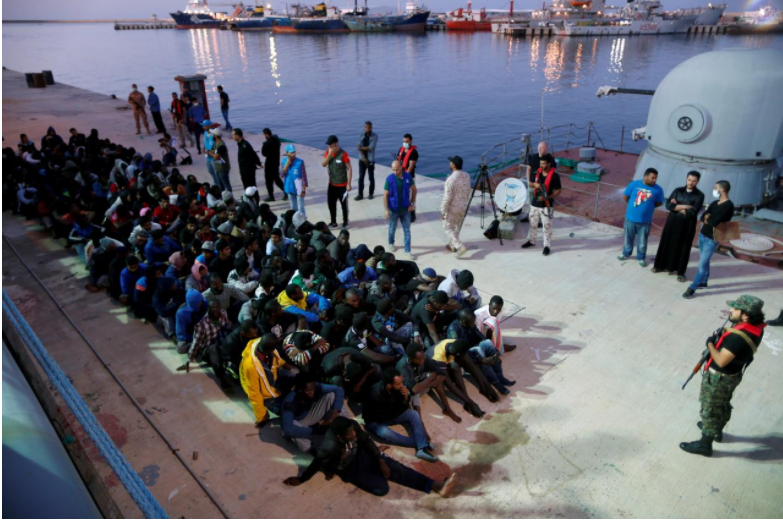 """France tells Libya to act over migrant """"crimes against humanity"""""""