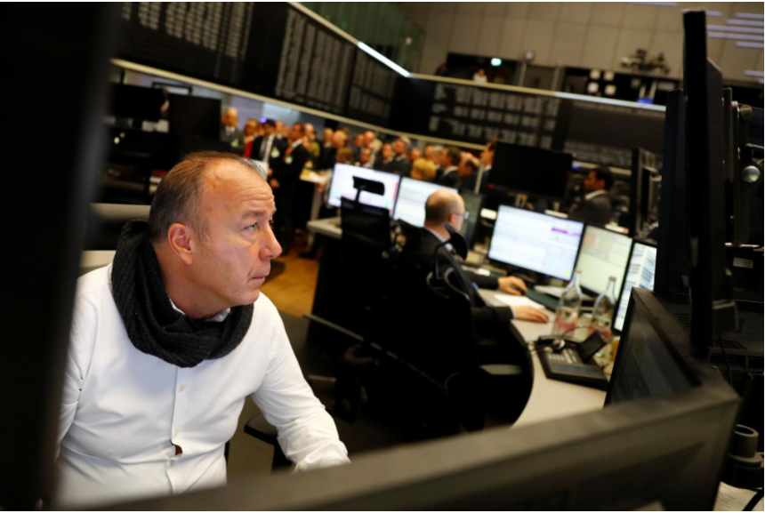 Stocks scale record high, crude oil gains