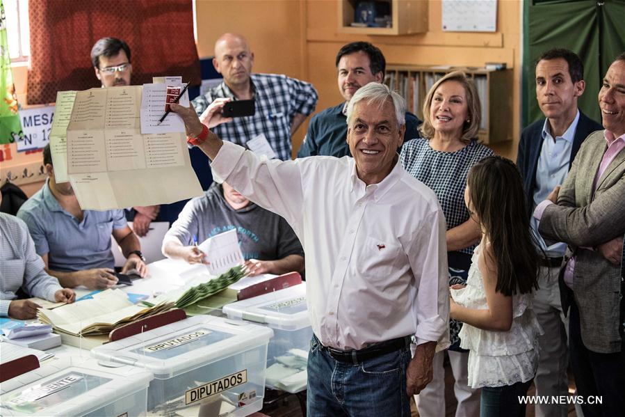 Sebastián Piñera leads first round of the Chilean presidential election
