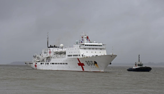 Chinese naval hospital ship Peace Ark makes first visit to Mozambique