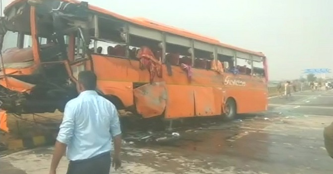 45 children injured as school bus overturns in northern India