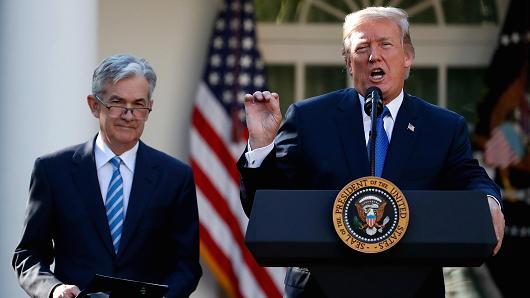 Trump announces Jerome Powell as new Fed chairman