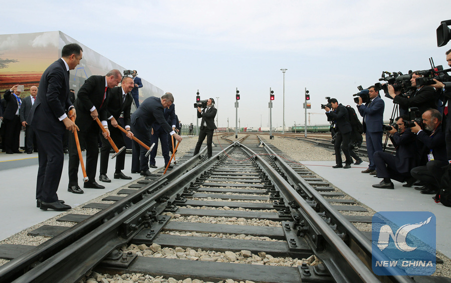 Azerbaijan, Turkey, Georgia inaugurate newly built Asia-Europe railway