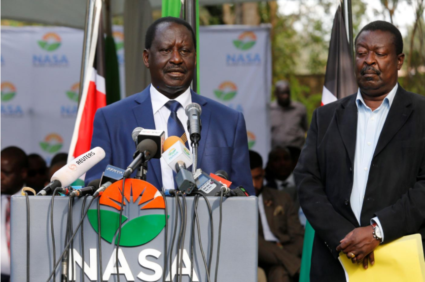 Kenyan opposition leader calls for petitions against vote won by Kenyatta